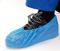 Shoe Cover – Polyethylene Blue x1000/c WATER PROOF